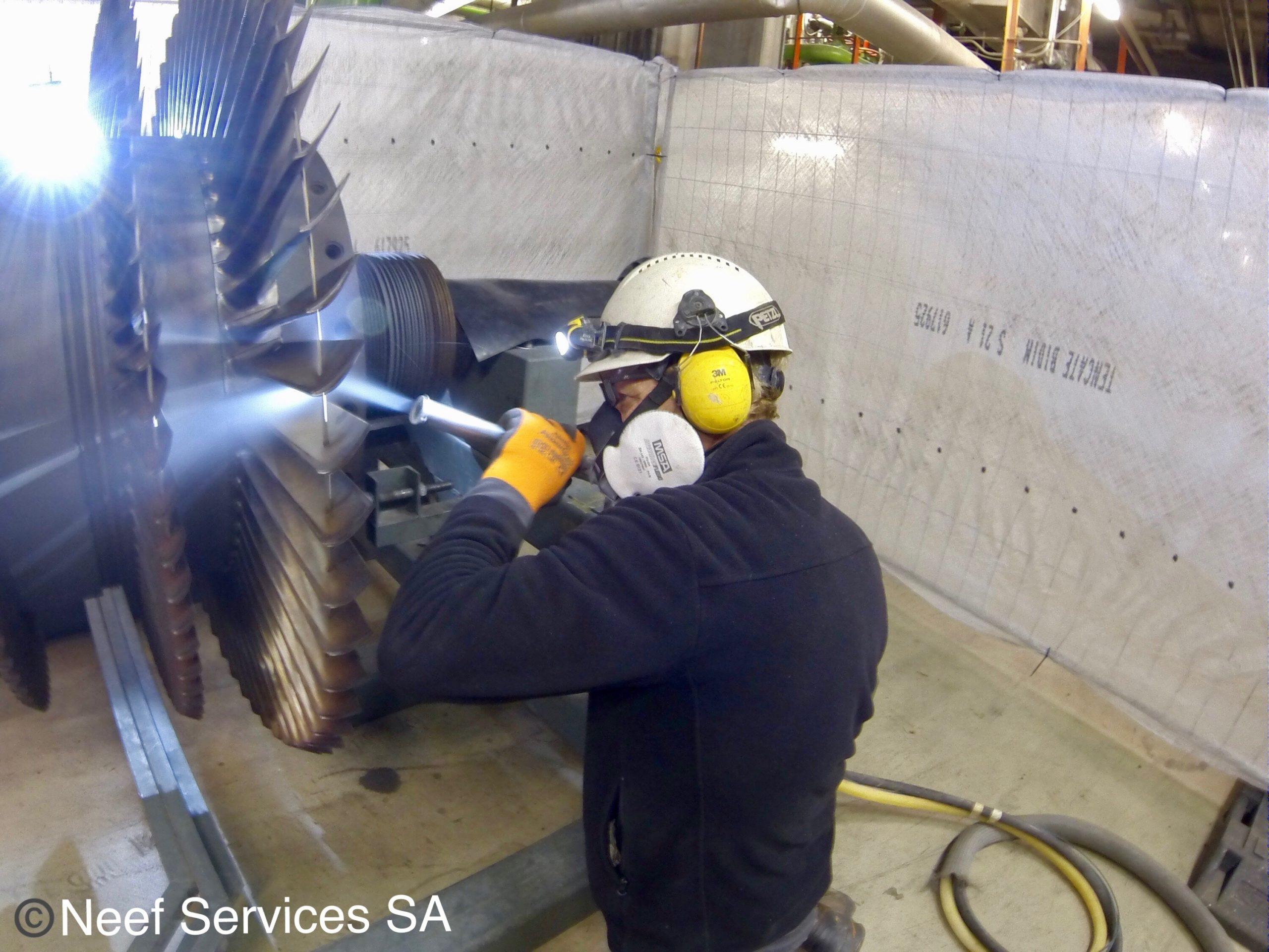 Cryogénie sur turbine