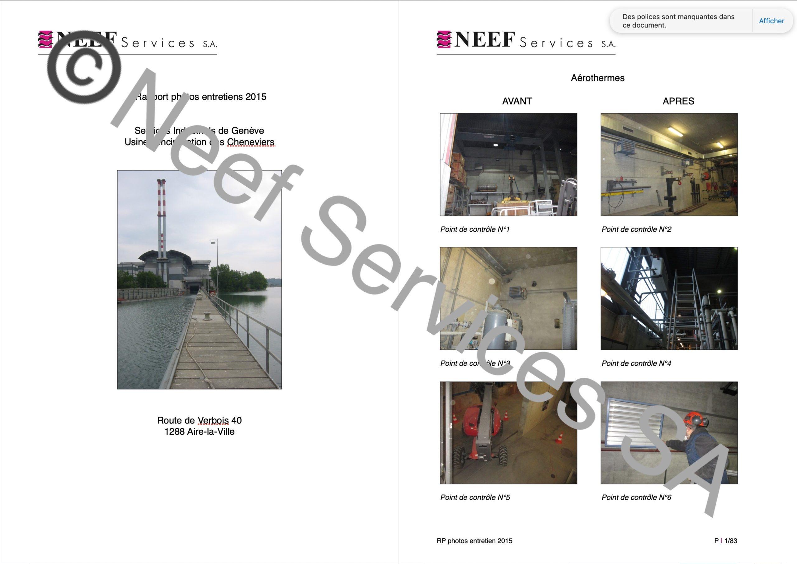 Neef Services SA_Rapport photos